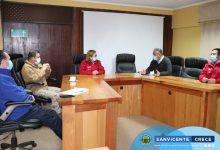 ALCALDE JAIME GONZÁLEZ RECIBIÓ A AUTORIDADES REGIONALES CON MOTIVO DE LA CUARENTENA EN SAN VICENTE