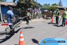 TRABAJOS DE BACHEADORA MUNICIPAL EN CALLEJONES